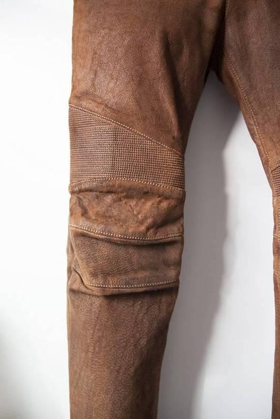 Balmain 2014 leather biker pants Size US 30 / EU 46 - 3