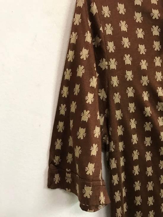 Givenchy Luxury Designer GIVENCHY Gentleman Paris Made in France Atomic Print Retro Collar Shirt Size US M / EU 48-50 / 2 - 1