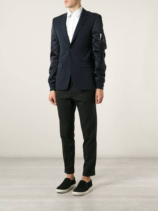 Givenchy $2100 Givenchy Navy Blue Bomber Sleeves Wool Stars Blazer Jacket size 48 (S / M) Size 48S - 5