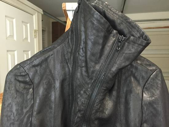 Julius SS17 Treated Lambskin Funnel Neck Jacket Size US L / EU 52-54 / 3 - 5