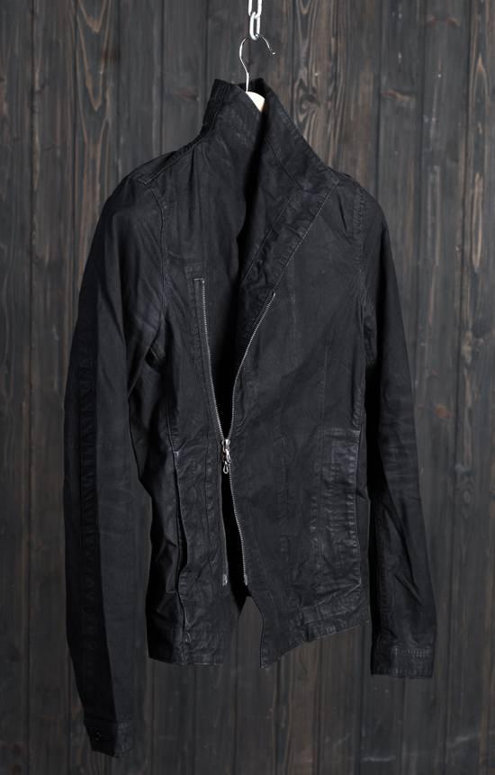 Julius high neck asymmetric zip waxed denim jacket Size US S / EU 44-46 / 1 - 9