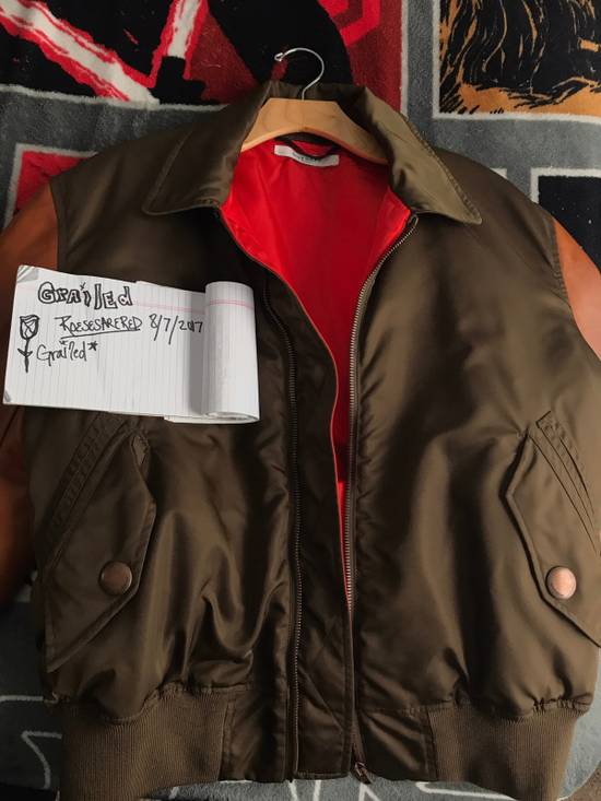 Givenchy Givenchy Auburn/Olive Leather Bomber W Red Satin Inside Size US M / EU 48-50 / 2 - 3