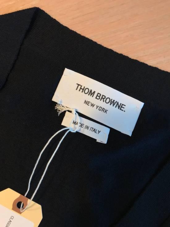 Thom Browne Navy Merino Wool Classic 4 Bar Cardigan Size US L / EU 52-54 / 3 - 5