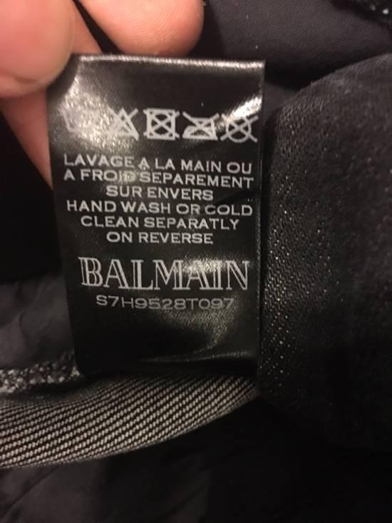 Balmain Balmain Black Distressed Biker Jeans Size US 30 / EU 46 - 3