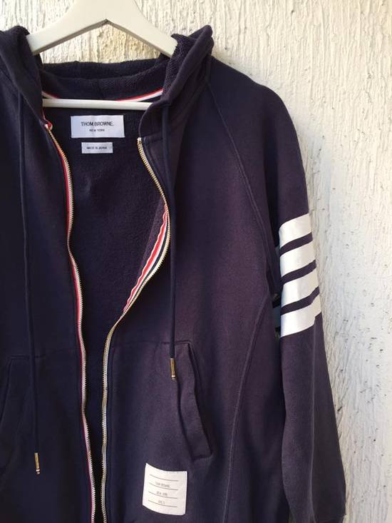 Thom Browne NAVY ENGINEERED STRIPE HOODY Size US L / EU 52-54 / 3 - 2