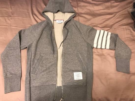 Thom Browne Grey Classic Full Zip Hoodie Size US L / EU 52-54 / 3