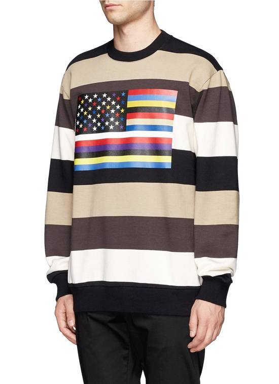 Givenchy $795 Givenchy American Flag Stripe Rottweiler Oversized Sweater size XXS (L) Size US L / EU 52-54 / 3 - 5
