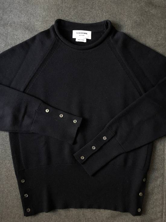Thom Browne Navy Raglan Sleeve Roll Neck Wool Sweater - Size 2 Size US M / EU 48-50 / 2