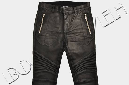 Balmain 1265$ Skinny Coated Stretch Denim Biker Jeans Size US 27 - 4