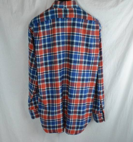 Thom Browne Red White Blue Plaid Flannel Thick Cotton Casual Shirt 3 4 5 X-Large Size US XL / EU 56 / 4 - 5