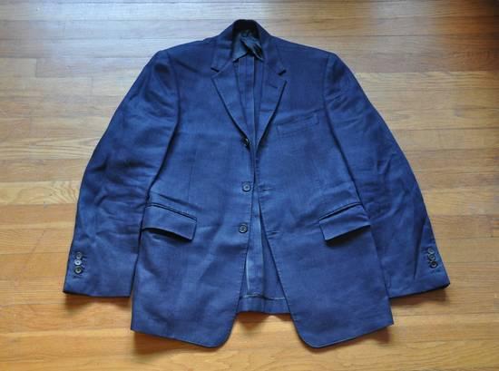 Thom Browne Navy Linen Blazer Size 40R