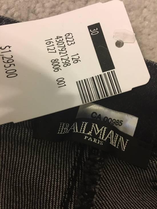 Balmain Balmain Black Distressed Biker Jeans Size US 30 / EU 46 - 4