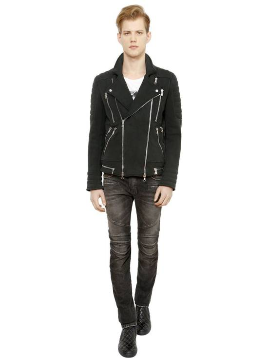 Balmain Balmain Washed Cotton Denim Black Biker $990 Authentic Jeans Size 31 New Size US 31 - 4