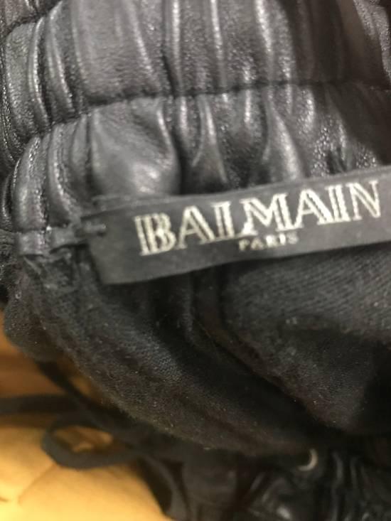 Balmain Balmain leather joggers Size US 30 / EU 46 - 3