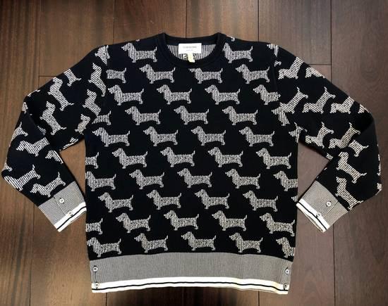 Thom Browne Dog Print Sweater Size US L / EU 52-54 / 3 - 1