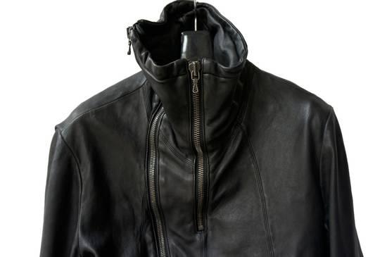 Julius JULIUS _7 ma high neck black lamb biker jacket slim fit Japan Size US S / EU 44-46 / 1 - 10