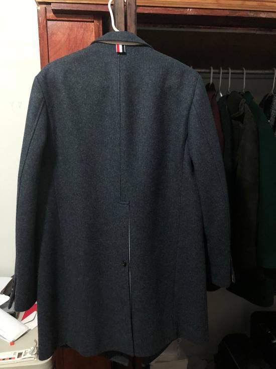 Thom Browne Navy Wool Topcoat (Size 2 - Fits M/L) Size US M / EU 48-50 / 2 - 1