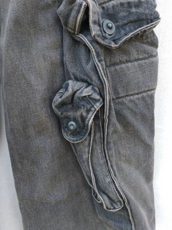 Julius Gas Mask Cargo Pants in Bown Denim AW09 Size 1 Size US 29 - 4