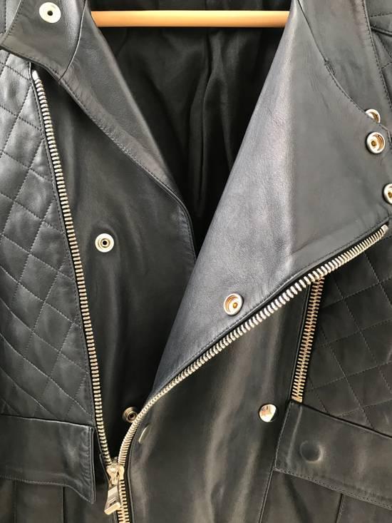 Balmain Quilted Leather Biker Jacket Size US M / EU 48-50 / 2 - 4