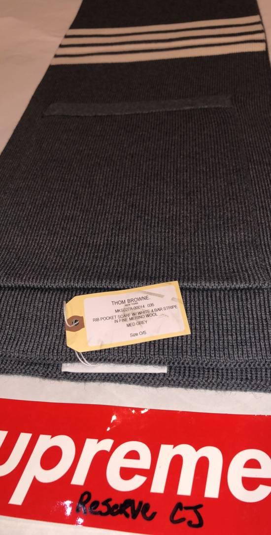 Thom Browne Thom Browne Pocket Scarf Grey Size ONE SIZE - 3