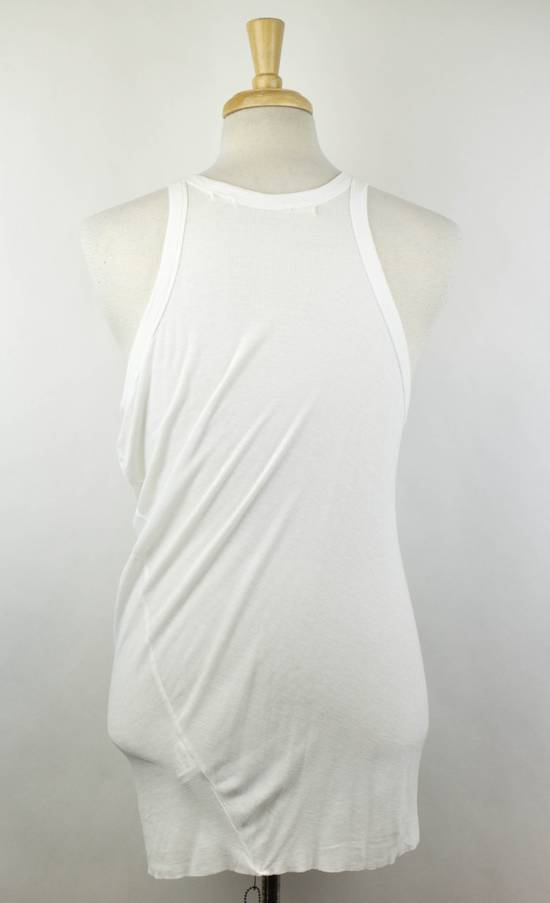 Julius 7 White Rayon Blend Long Ribbed Tank Top T-Shirt Size 2/S Size US S / EU 44-46 / 1 - 2