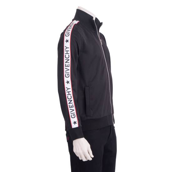Givenchy Black Technical Jersey Jacket With Logo Banded Sleeves Size US L / EU 52-54 / 3 - 3