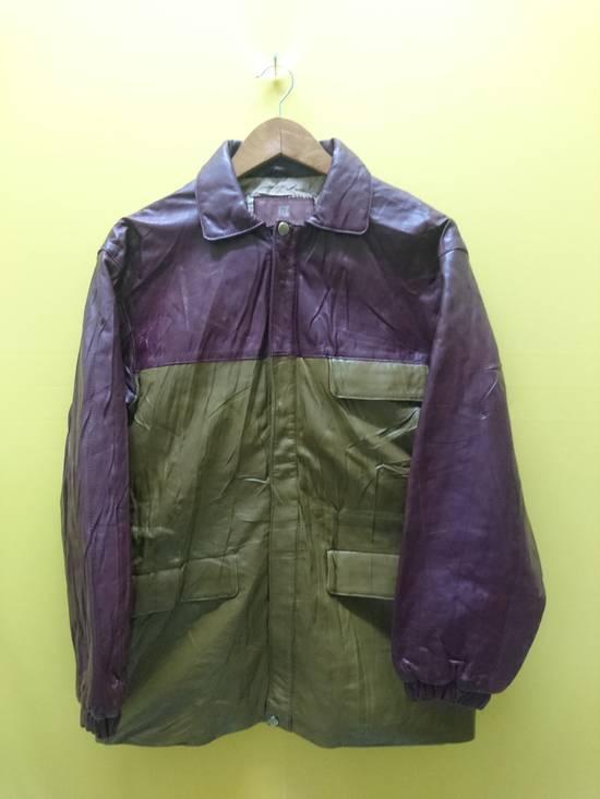 Balmain Pierre bailmain leather two tone colour jacket Size US L / EU 52-54 / 3
