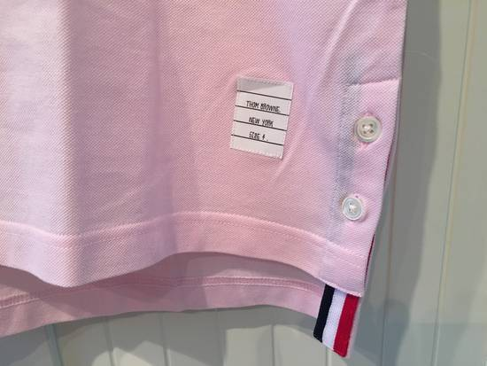 Thom Browne Striped Trim Polo Shirt in Light Pink Size US L / EU 52-54 / 3 - 4