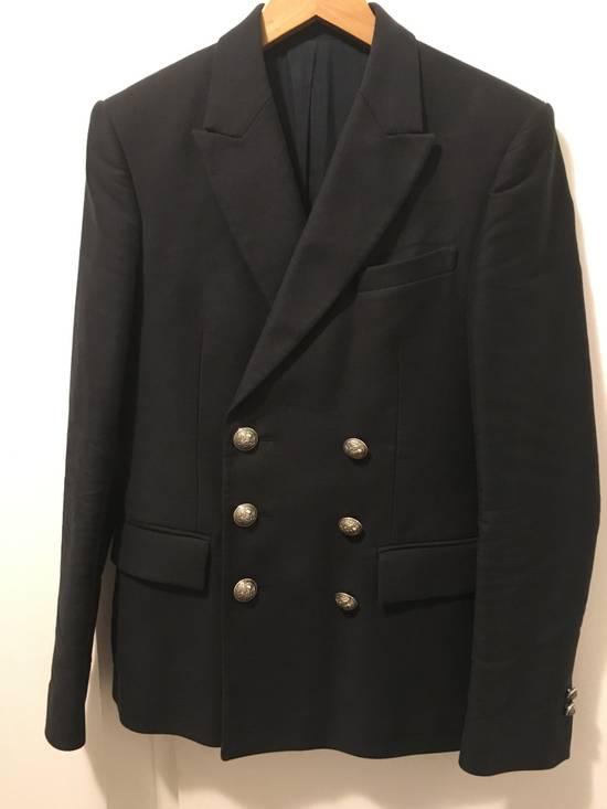 Balmain AW11 Navy Double Breasted Blazer Size 34R - 2