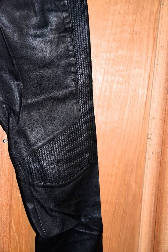 Balmain Leather Track pants Size US 30 / EU 46 - 10