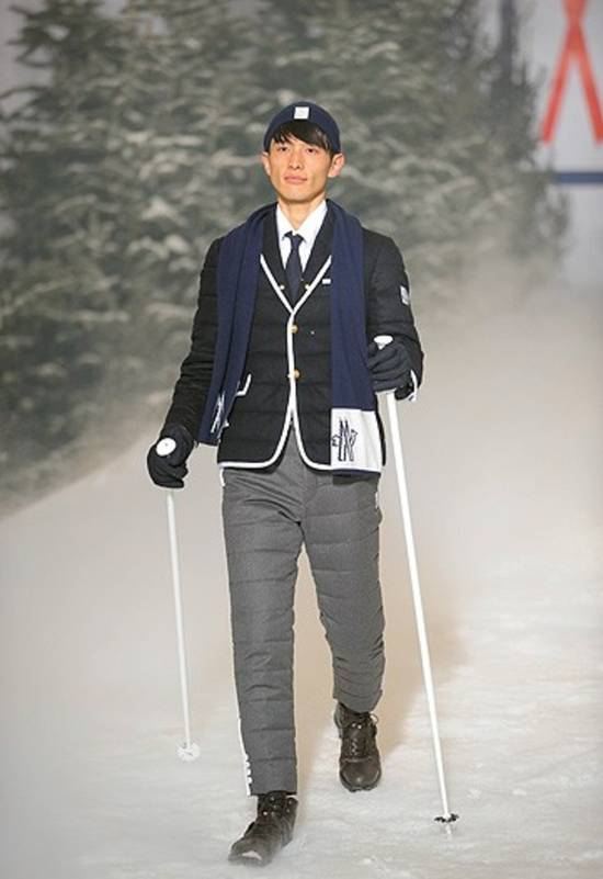 Thom Browne THOM BROWNE X MONCLER GAMME BLEU DOWN SUITS Size 38R - 15