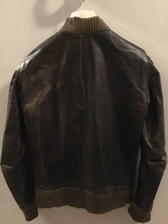 Balmain Decarnin Green Leather Teddy Boy Jacket Size US M / EU 48-50 / 2 - 1