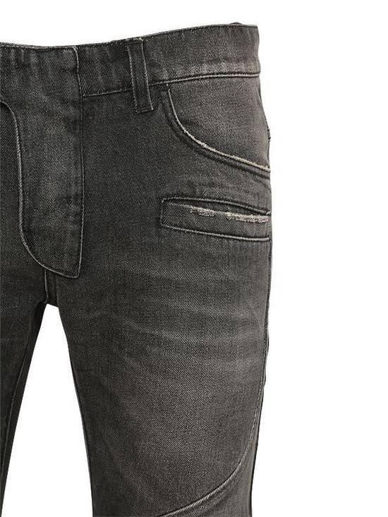 Balmain Balmain Washed Cotton Denim Black Biker $990 Authentic Jeans Size 31 New Size US 31 - 3