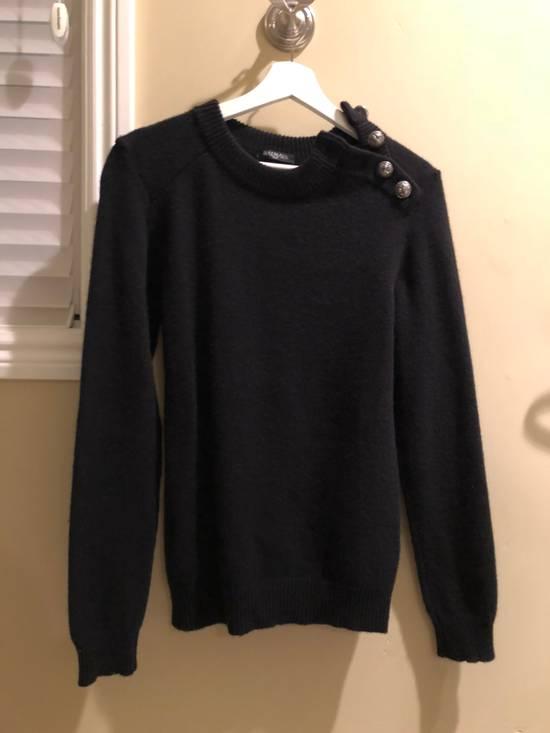 Balmain Black Cashmere Sweater Size US XS / EU 42 / 0
