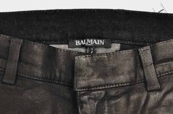 Balmain 1265$ Skinny Coated Stretch Denim Biker Jeans Size US 27 - 9