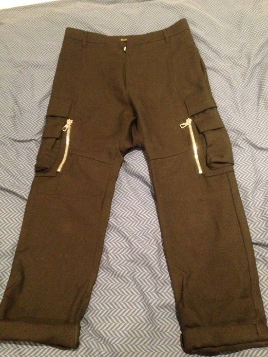 Balmain Wool Cargo Trousers Size US 29