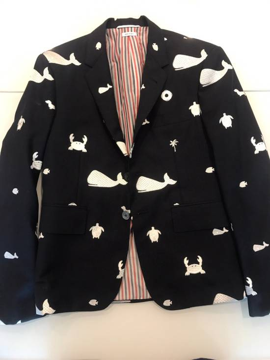 Thom Browne Nautical-Patch Wool Two-Button Sportcoat Size 36S