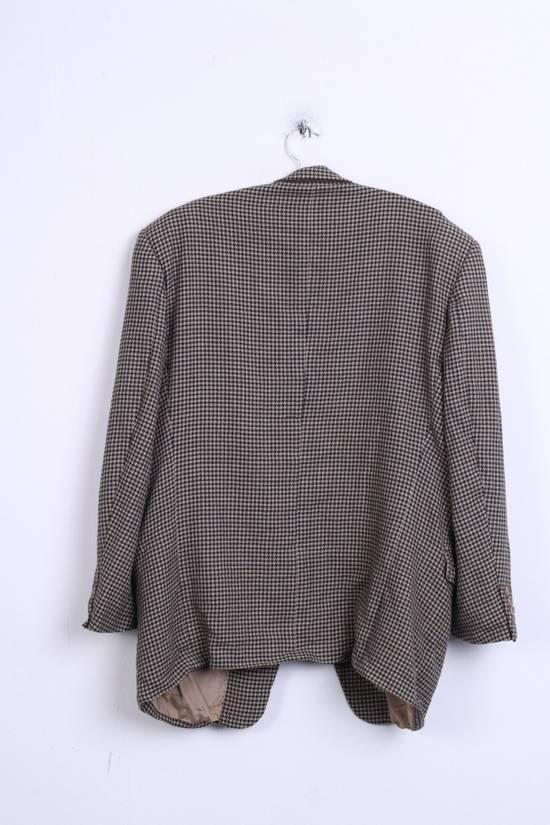 Balmain Pierre Balmain Paris El Corte Ingles Mens 56 L Blazer Top Suit Check Wool Brown 9933 Size 42R - 6