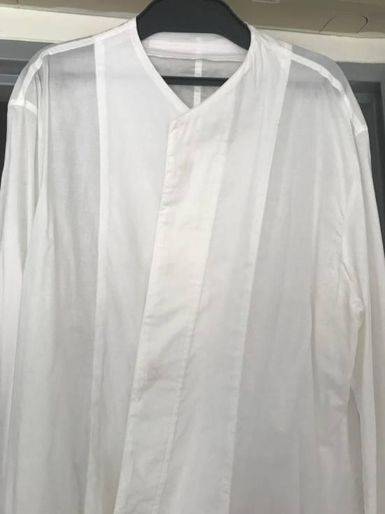 Julius SS16 long shirt with no collar Size US L / EU 52-54 / 3 - 1