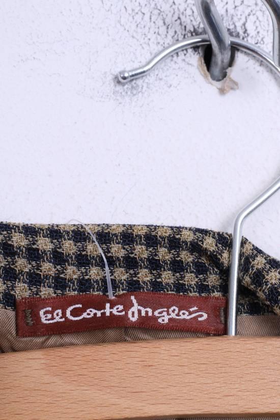 Balmain Pierre Balmain Paris El Corte Ingles Mens 56 L Blazer Top Suit Check Wool Brown 9933 Size 42R - 3