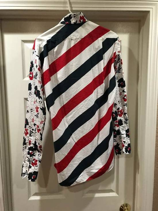 Thom Browne Striped Floral Shirt Size US M / EU 48-50 / 2 - 5