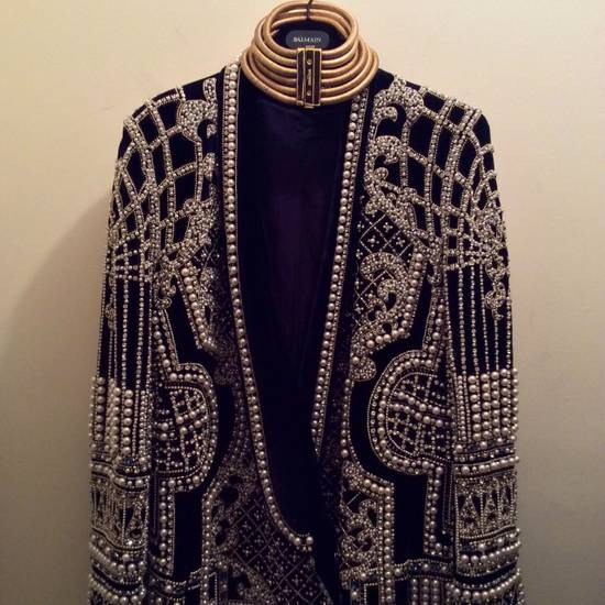 Balmain Balmain Fall 2012 Swarovski Crystal & Pearl Fabergé Tuxedo Size US XXL / EU 58 / 5 - 6