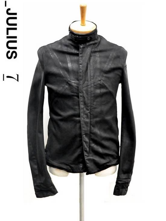 Julius JULIUS _7 ma moto black knit denium biker jacket sz1 eu44 46 xs s slim fit Japan Size US S / EU 44-46 / 1