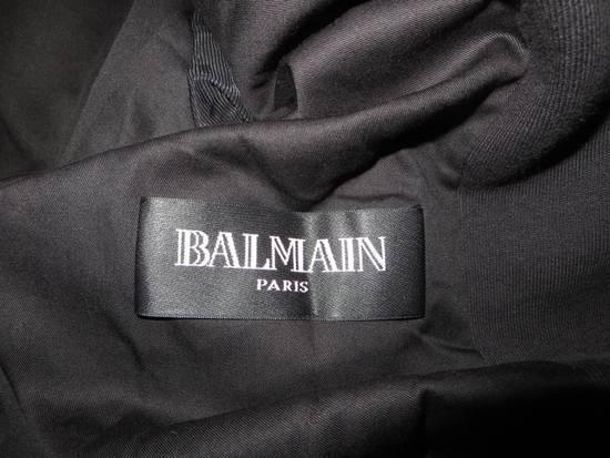 Balmain Stripped cotton biker jacket Size US XXL / EU 58 / 5 - 13