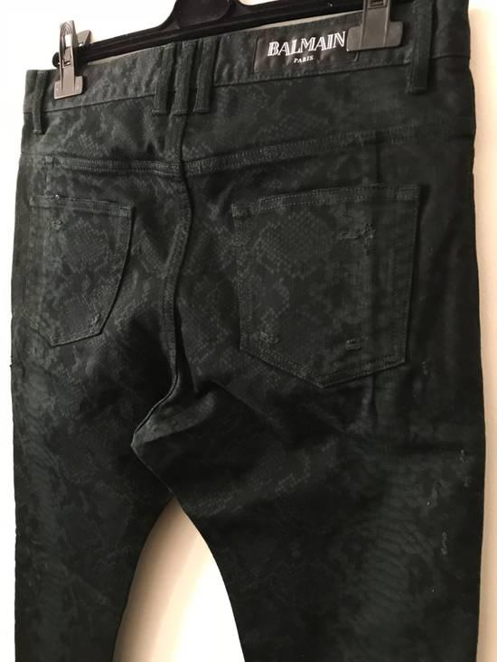 Balmain Size 32 - Distressed Snake Print Rockstar Jeans - FW17 - RARE Size US 32 / EU 48 - 3