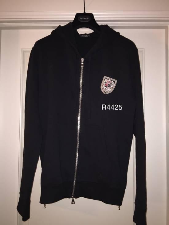 Balmain Balmain Black Crest Hoodie Size US L / EU 52-54 / 3