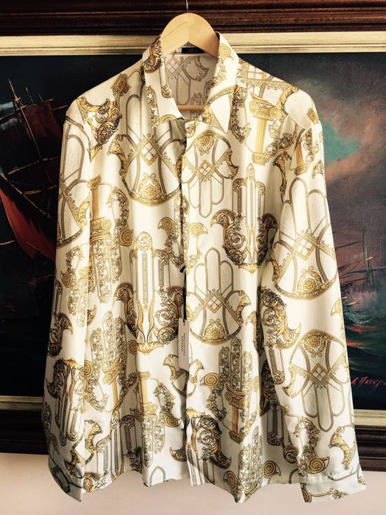 Givenchy Donatella Versace Chaos Greek Figures Silk Barocco Shirt 43 $1395 Size US L / EU 52-54 / 3