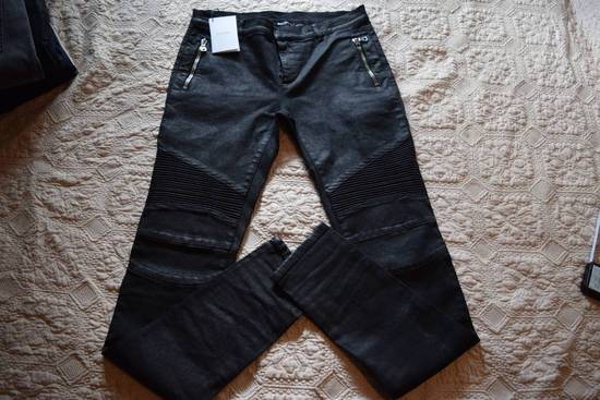 Balmain Balmain Authentic $1090 Waxed Denim Biker Jeans Size 32 Skinny Fit Brand New Size US 32 / EU 48