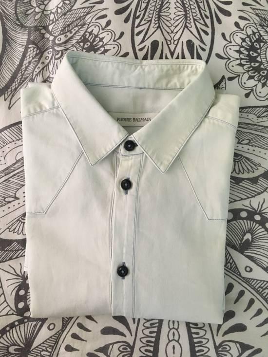 Balmain Bleached out Button Down Denim Shirt Size US S / EU 44-46 / 1 - 5