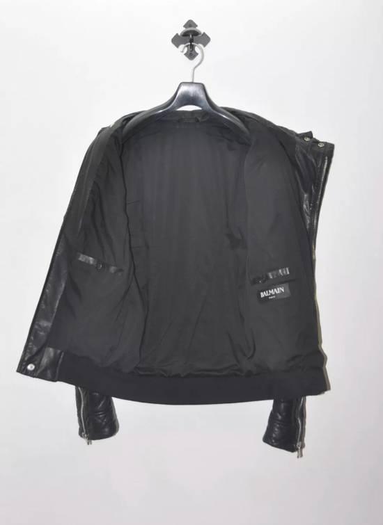 Balmain Quilted Biker Leather Jacket Size US S / EU 44-46 / 1 - 3